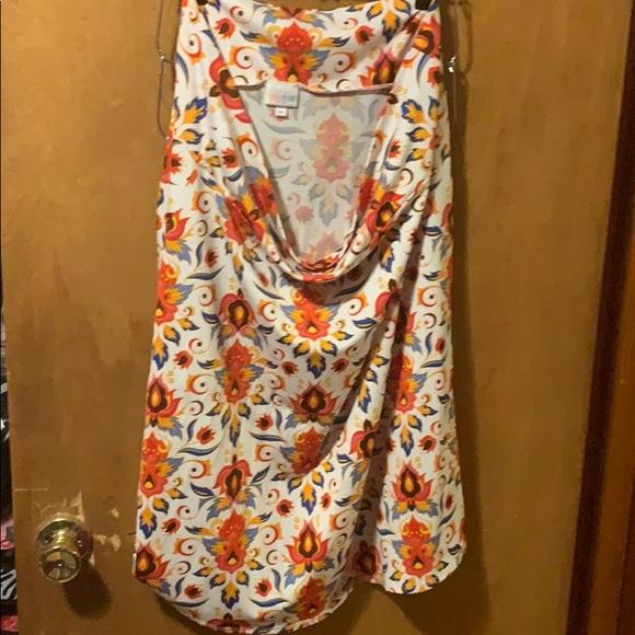 3xl Azure Skirt